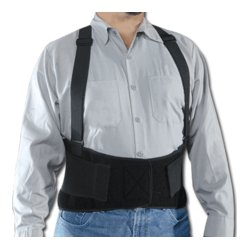 Conney Safety - 13665 - Direct Safety Premium Back Support with Suspenders: X-Small