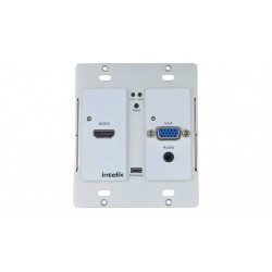 Intelix - AS-1H1V-WP-W - HDMI/VGA Auto-Switching Wallplate with VGA Scaling & HDBaseT Output