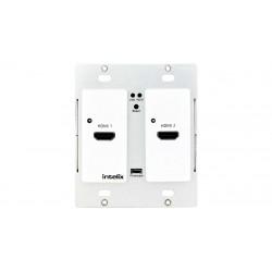 Intelix - AS-2H-WP-B - Dual HDMI Auto-Switching Wallplate w/ HDBaseT Output
