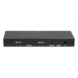 DigitaLinx - DL-S22 - 2x2 4K HDMI Matrix Switch with audio de-embedding and IR and pushbutton control