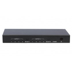 DigitaLinx - DL-S42 - 4x2 4K HDMI Matrix Switch with audio de-embedding and IR and pushbutton control