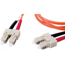 Liberty AV - DMM5SCSC-003M - 10' Fibertron Duplex Fiber Optic Patch cable OM2 Standard Multimode SC-SC