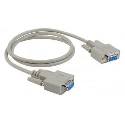 Liberty AV - E-DB9F-F-NULL-3 - 3' Economy Molded D-SUB DB9 female to female null modem cable
