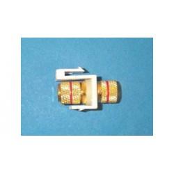 Liberty AV - ISK-BJ-WHG-RED - Keystone compatible Speaker Banana inserts black in almond