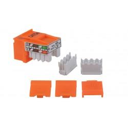 Liberty AV - K5-8PE-BK - Keystone compatible Category 5e U/UTP 90 degree punch down inserts