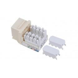 Liberty AV - KX-6-WH - Keystone compatible Category 3 U/UTP 90 degree punch down RJ25 inserts