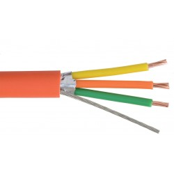 Liberty AV - TEKTONE-D2 - Orange Nurse Call data 18 AWG 3 conductor shielded cable Reel