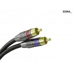 Liberty AV - Z250A0.5 - 1.5' Liberty Z250 Duplex RCA Audio cable