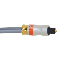Liberty AV - Z500NTOS10 - 33' Premium metal connector TOSLINK Digital Optical Audio cable