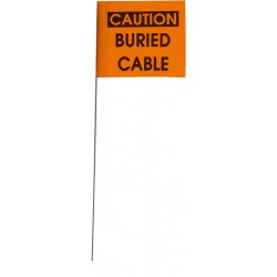 Other - 33711 - 4 x 5 Printed CAUTION BURIED CABLE Stake Wire Flags