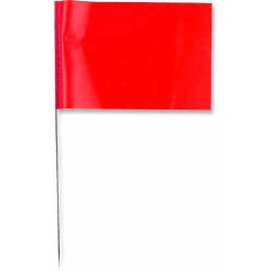 Other - 33736 - 5 x 8 Plain Colors Stake Wire Marking Flags
