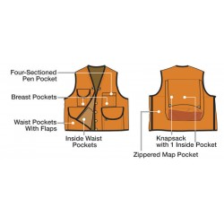 Forestry Suppliers - 96003 - Pro 10-Pocket Cruiser Vest