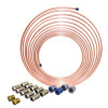 AGS - CNC-425K - AGS CNC-425K 1/4 X 25 Nickel Copper Brake Line Coil And Tube Nut Kit
