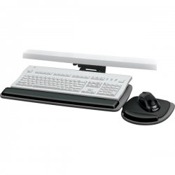 "Fellowes - 93841 - Fellowes Standard Keyboard Tray - 4.5"" Height x 30.5"" Width x 20"" Depth - Black, Graphite Gray"