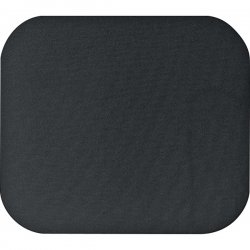 "Fellowes - 58024 - Fellowes Mouse Pad - Black - 8"" x 9"" x 0.2"" Dimension - Black - Polyester - Scratch Resistant"