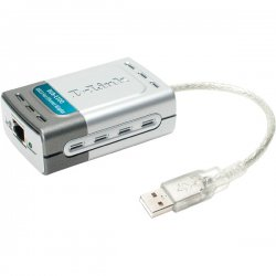 D-Link - DUB-E100 - D-Link Network Adapter - USB - 1 x RJ-45 , 1 x Type A - 10/100Base-TX