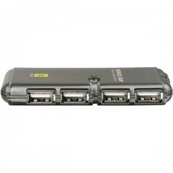 IOGear - GUH274 - IOGEAR MicroHub GUH274 USB Hub - 4 x 4-pin Type A Female USB 2.0, 1 x 4-pin Type A Female USB 2.0 - External