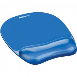"Fellowes - 91141 - Fellowes Gel Mousepad/Wrist Rest - Crystals, Blue - 0.8"" x 7.9"" x 9.2"" Dimension - Blue - Gel Base, Rubber Back, Polyurethane Cover - Stain Resistant, Skid Proof"