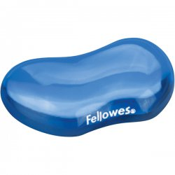 "Fellowes - 91177 - Fellowes Gel Crystals Flex Rest - 1"" x 4.9"" x 3.4"" Dimension - Blue"