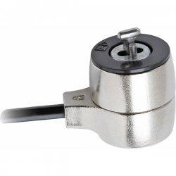 V7 - SLK500-8N - V7 SLK500-8N Laptop Security Lock - Keyed Lock - Galvanized Steel - 5ft