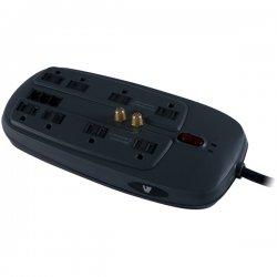V7 - SA0806B-8N6 - V7 SA0806B-8N6 8-Outlets Surge Protector - Receptacles: 8 x NEMA 5-15R - 1800J