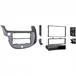 Metra - 997877S - 2009 Honda 2-DIN with Removable Pocket Turbo Install Kit - Silver