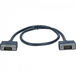 QVS - CC388M1-15 - QVS UltraThin Monitor Video Cable - for Monitor - 15 ft - 1 x HD-15 Male VGA - 1 x HD-15 Male VGA - Shielding