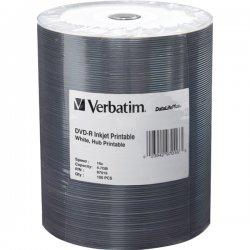 Verbatim / Smartdisk - 97016 - Verbatim DVD-R 4.7GB 16X DataLifePlus White Inkjet Printable, Hub Printable - 100pk Tape Wrap - Inkjet Printable