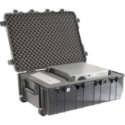 "Pelican - 1730-000-110 - Pelican 1730 Transport Case wit Foam - Internal Dimensions: 34"" Length x 24"" Width x 12.50"" Depth - External Dimensions: 37.5"" Length x 27.1"" Width x 14.4"" Depth - Double Throw Latch Closure - Stackable - Copolymer - Black - For"