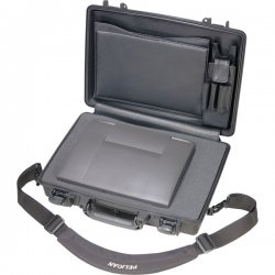 "Pelican - 1490-000-110 - Pelican PELICAN 1490 CASE W/ PICK N PLUCK FOAM INTERIOR BLACK - Crush Proof, Dust Proof, Water Proof - Polycarbonate, Acrylonitrile Butadiene Styrene (ABS) - Handle - 13.9"" Height x 19.9"" Width x 4.7"" Depth"