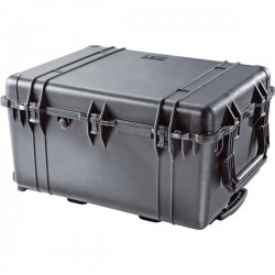 "Pelican - 1630-001-110 - Pelican 1630 Transport Case - Internal Dimensions: 27.70"" Length x 20.98"" Width x 15.50"" Depth - External Dimensions: 31.3"" Length x 24.2"" Width x 17.5"" Depth - Double Throw Latch Closure - Heavy Duty - Copolymer - Black - For"
