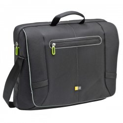 "Case Logic - PNM-217Black - Case Logic PNM-217 Carrying Case (Messenger) for 17.3"" Notebook, iPod - Black - Nylon - Shoulder Strap, Handle - 13.6"" Height x 16.9"" Width x 4.7"" Depth"