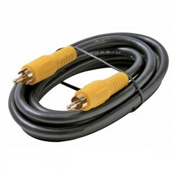 Steren Electronics - BL-216-106BK - Steren BL-216-106BK Audio/Video Patch Cable - Patch Cable - 6 ft - RCA Audio/Video - RCA Audio/Video - Black