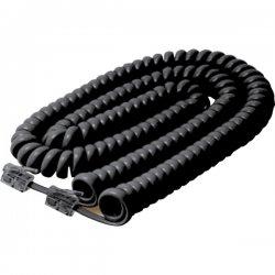 Steren Electronics - BL-322-025BK - Steren BL-322-025BK Coiled Handset Cable - for Phone - 25 ft - Black