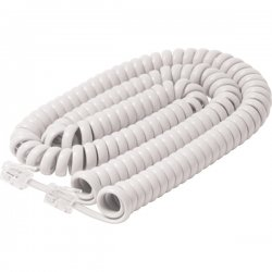 Steren Electronics - BL-322-025WH - Steren BL-322-025WH Handset Cord - for Phone - 25 ft - White