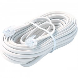 Steren Electronics - BL-324-025WH - Steren BL-324-025WH Premium Telephone Line Cable - for Phone - 25 ft - White