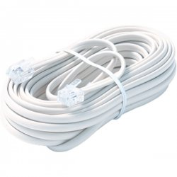 Steren Electronics - BL-324-050WH - Steren BL-324-050WH Premium Telephone Line Cable - for Phone - 50 ft - White