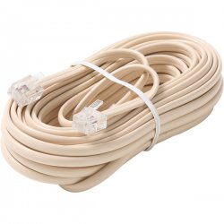 Steren Electronics - BL-324-100IV - Steren BL-324-100IV Premium Telephone Line Cable - for Phone - 100 ft - Ivory