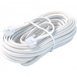 Steren Electronics - BL-324-100WH - Steren BL-324-100WH Premium Telephone Line Cable - for Phone - 100 ft - White