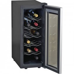 Avanti - EWC1201 - Avanti Ewc1201 Black Wine Cooler 12 Bottle Thermoelectric