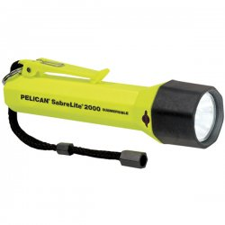 Pelican - 2000-010-245 - Pelican SabreLite 2000 Flashlight - 3.30 W - C - Acrylonitrile Butadiene Styrene (ABS)Body, NylonLens - Yellow