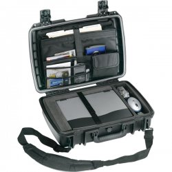 "Pelican - IM2370-00001 - Pelican Storm iM2370 Carrying Case (Messenger) for Notebook - Black - Dust Proof - HPX Resin, Silicone O-ring - Handle - 14.7"" Height x 20"" Width x 5.8"" Depth"