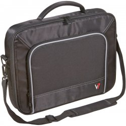 "V7 - CCP4-9N - V7 Professional CCP4-9N Carrying Case for 13"" Notebook - Black, Gray - Nylon, Visa Polyester - Handle, Shoulder Strap - 10.5"" Height x 14"" Width x 2.3"" Depth"