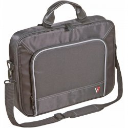 "V7 - CTP1-9N - V7 Professional CTP1-9N Carrying Case for 16"" Notebook - Black, Gray - Nylon, Visa Polyester - Shoulder Strap, Handle - 12"" Height x 16.1"" Width x 3.3"" Depth"