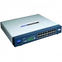 Cisco - RV016 - Cisco 10/100 16-Port VPN Router - 13 x 10/100Base-TX LAN, 2 x 10/100Base-TX WAN, 1 x 10/100Base-TX DMZ