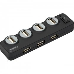 Digital Innovations - 4390300 - Digital Innovations Connect + Charge 7-Port Hub, Powered - USB - External - 7 USB Port(s) - 7 USB 2.0 Port(s)