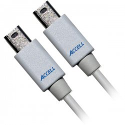 Accell - B119B-007J - Accell UltraAV B119B-007J Audio/Video Cable Adapter - 6.56 ft - Mini DisplayPort Male Digital Audio/Video - DisplayPort Male Digital Audio/Video - Shielding