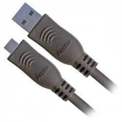 Accell - A117B-006B - Accell A117B-006B USB Cable Adapter - USB - 6 ft - Type A Male USB - Micro Type B Male USB - Shielding