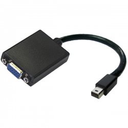 "Accell - B101B-002B - Accell UltraAV B101B-002B Video Cable Adapter - 10"" - HD-15 Female VGA - Mini DisplayPort Male Video"