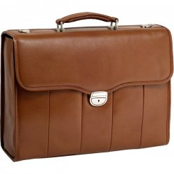 McKlein / Siamod - 46554 - McKleinUSA 15.4 Leather Executive Laptop Briefcase - Briefcase - Shoulder Strap, Hand Strap15.4 Screen Support - 12.5 x 17 x 5 - Leather - Brown